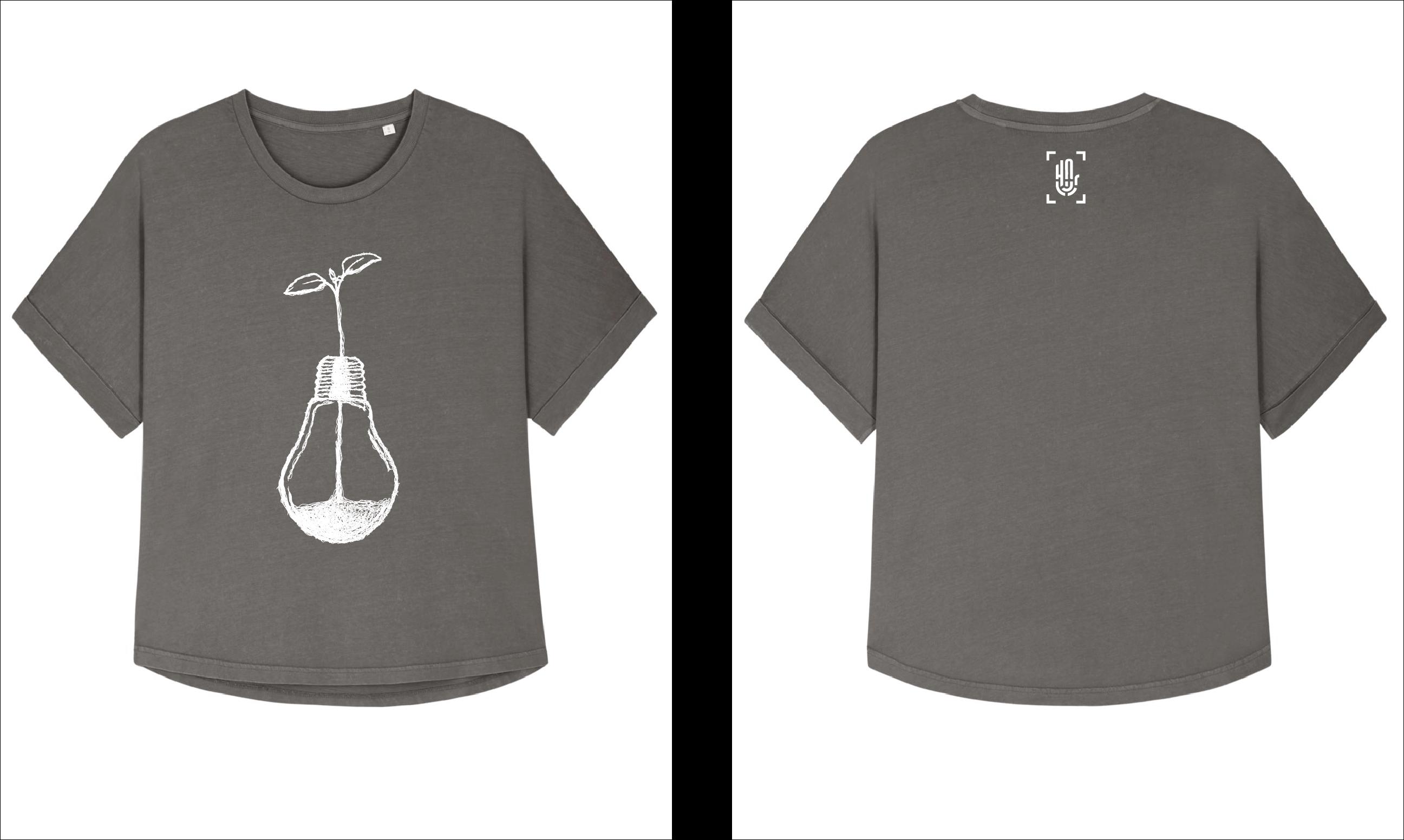 Camiseta Collider Vintage HNR004-Dyed Mid Anthracite